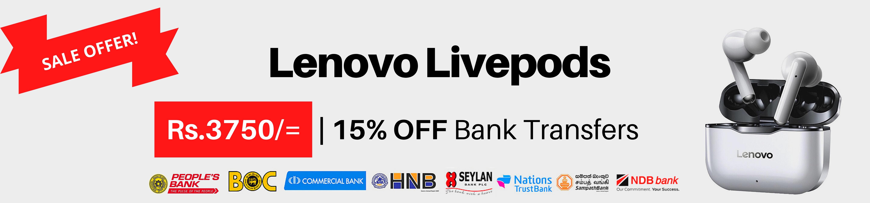 Lenovo Livepods Price in Sri Lanka